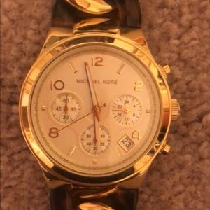 Michael Kors Watch - Gold and Tortoise shell